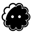 flower button icon simple black style vector image vector image