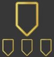 Golden line shield logo design set vector image vector image