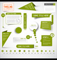 green infographic timeline elements template vector image