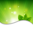 Green Wall With Green Leaves vector image vector image