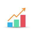 growing bar graph flat icon vector image vector image