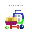high quality veterinary object and icons vector image vector image