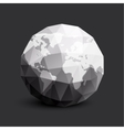 Isolated abstract black and white earth logo vector image vector image
