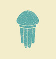 jellyfish flat icon vector image