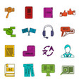 learning foreign languages icons doodle set vector image vector image