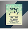 lovely christmas snowflakes flyer design vector image vector image