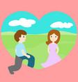 man walk through loveland find woman vector image