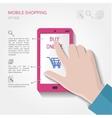 Mobile shopping concept vector image
