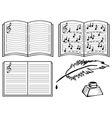 music books vector image