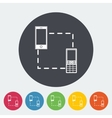 Phone sync single icon vector image vector image