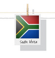 photo of south africa flag vector image