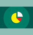 pie graph diagram flat minimal style colorful icon vector image vector image