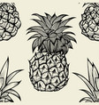 pineapples hand drawn sketch vector image vector image