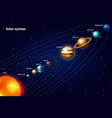 planets of the solar system milky way realistic vector image