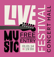 Poster for live music festival with guitar