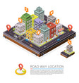 road in city isometric cityscape location vector image vector image