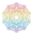 Round rainbow mandala background