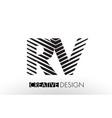 rv r v lines letter design with creative elegant vector image vector image