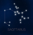 Sagittarius constellation vector image vector image