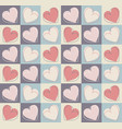 seamless pattern with stylish hearts vector image vector image