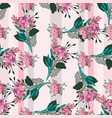 seamless pattern with vintage flowers vector image vector image