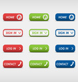 Set of colored rectangular web buttons vector image
