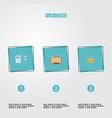 set of melody icons flat style symbols with audio vector image vector image