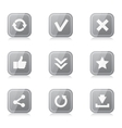 Set of rounded square internet icons with vector image vector image