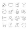 simple different icons set universal icons to use vector image vector image