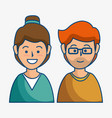 smiling people icon vector image vector image