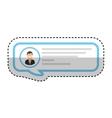 speech bubble blog icon vector image
