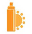 uv spray logo flat style vector image vector image