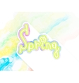 Watercolor composition spring design EPS10 vector image vector image