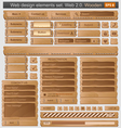 Web design elements set wooden vector | Price: 3 Credits (USD $3)