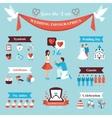 Wedding Infographics Set vector image vector image
