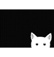 White Cat Dots Background vector image vector image