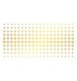 wi-fi source golden halftone matrix vector image vector image
