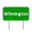 Wilmington green road sign vector image vector image