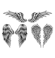 wings set4 vector image vector image