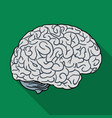 human brain icon in flat style isolated on white vector image