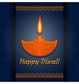 Greeting card for Diwali festival celebration in I vector image