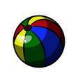 color sketch baby beach ball vector image