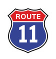 11 route sign icon road 40 highway vector image vector image