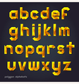 Alphabet gold color polygon style vector image vector image