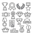 awards line icons set on white background vector image vector image