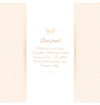 Beautiful invitation card on ornate background vector image vector image