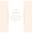 Beautiful invitation card on ornate background vector image