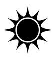 black abstract sun graphic vector image vector image