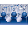 Blue and White Xmas Balls2 vector image vector image