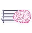 brain connections icon vector image